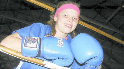 12-year-old Britnee Wallace will fight her first bout at Gatton tomorrow night.