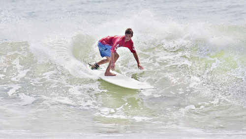 Jackson Winter cruises into the junior men's final at Noosa yesterday.