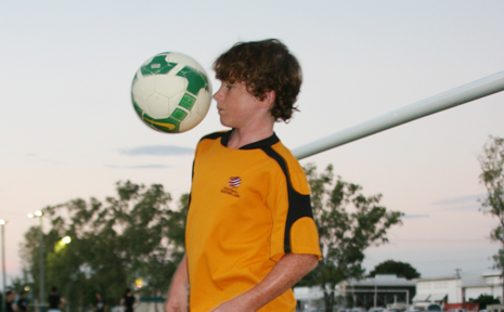AIMING HIGH: Emerald youngster Jesse Rigby has his heart set on being an international soccer star.