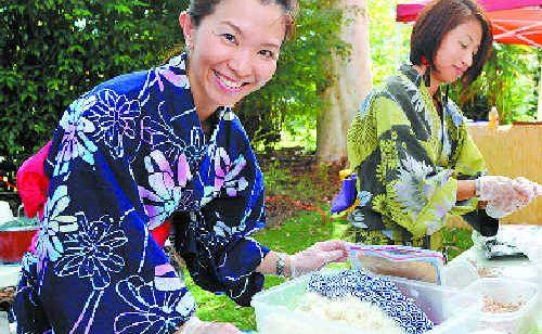 Taste of Asia: Mavumi and Maki prepare traditional Japanese fare.