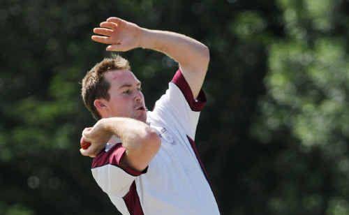 Mick Summers' rare stint at the bowling crease proved vital.