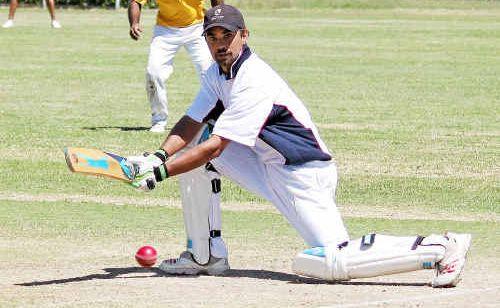 Sovereign Animals batsman Greg Louis scored 127.
