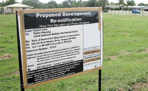 The development of a 22-unit public housing complex has created a debate among nearby residents.