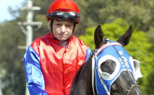 Second win: Samantha Munro is led out on Watchword for the Bob Small Bridle (1400m) at the Casino races on Saturday.