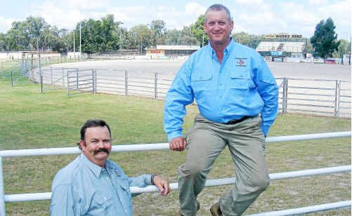 Warwick Show chairman John Wilson and showgrounds groundsman Ross Mickan are ready for a great event for 2010.