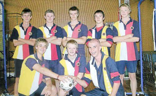 The winning Warwick High boys' team (back, from left) Nick Kemp, Mitch Siebenhausen, Mark Steketee, Matthew Carey, Matthew Elford, (front) Fraser Noble, Mark Ferdinand and Mitchell Barling.