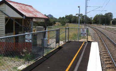 The Traveston rail stop.