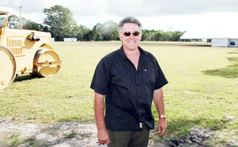 Bluesfest licensee and venue manager Brendan Meek on the festival site at Tyagarah last Friday.
