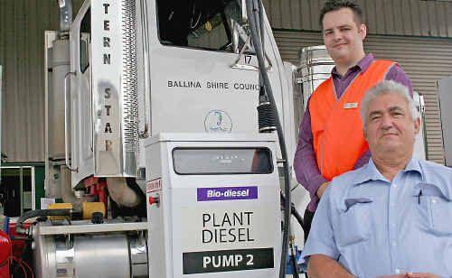 Ballina Shire Mayor Phil Silver and Cr Ben Smith.