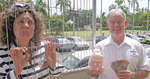 Help me! Echo editor Rudi Maxwell is going behind bars for the PCYC Time 4 Kids, where local identities are doing time to raise money to help reduce youth crime. PCYC manager Mark Greig encourages people to come on the day and help pay their bail.