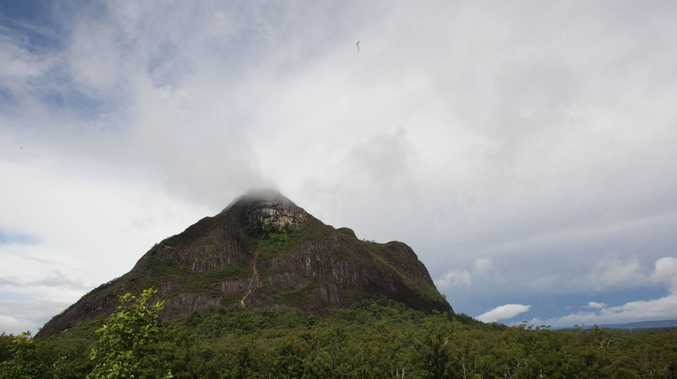 Mount Beerwah in Glasshouse Mountains National Park.