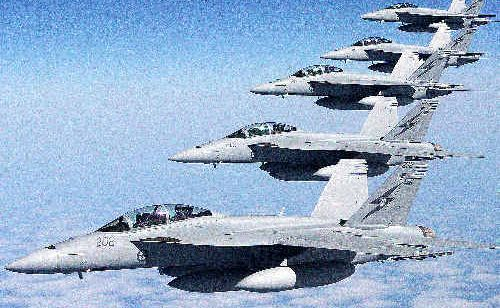 Australian Super Hornets ferry across the Pacific Ocean to Australia, where they will bridge the RAAF's transition to the F35 Joint Strike Fighter fleet.