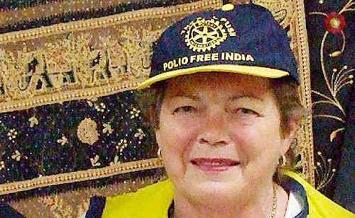 Carol Brown spoke of Rotary's polio vaccination plan.