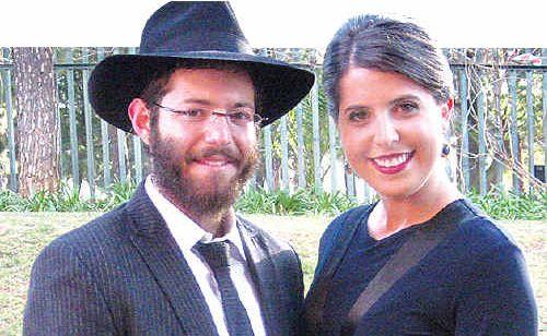 Rabbi Zev Slavin and his wife Chana who are heading to the Sunshine Coast.