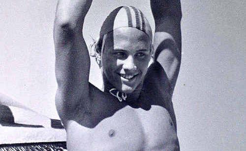 Grant Kenny wins Australian senior and junior ironman titles at Maroochydore Beach, 1980.
