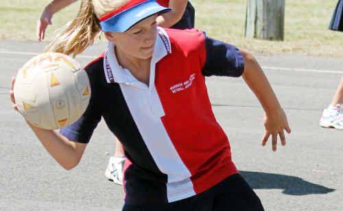 Warwick Netball Association representative player Sarah Mantova.