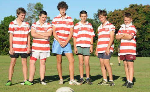 From left Gyles Cullen, Nathan McPherson, Ben Jackson, John King, Matt Bertalli and Adrian Battaglini.