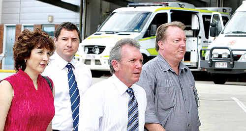 Sunshine Coast MPs Fiona Simpson, Andrew Powell, Mark McArdle and Glen Elmes.