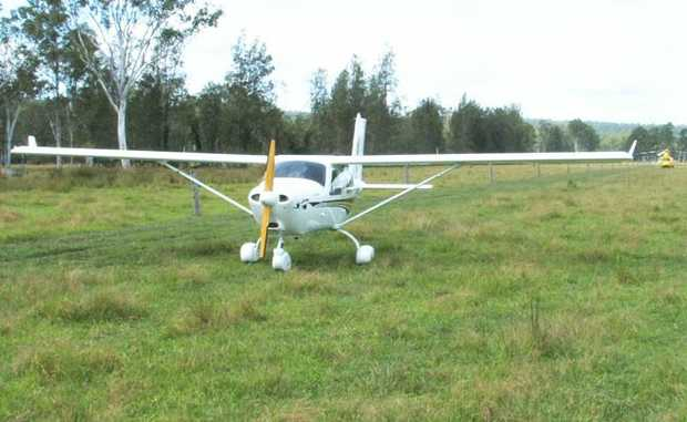 A light aircraft was force to land at Whiporie about noon today.