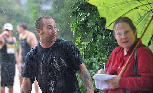 Soaked through, Belinda reported from the worst-hit areas.