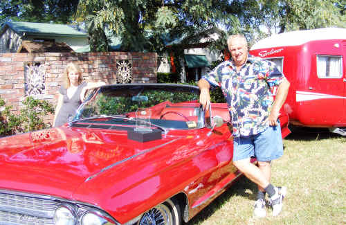 Ty and Trish Heaven's transformed 1962 red Cadillac.