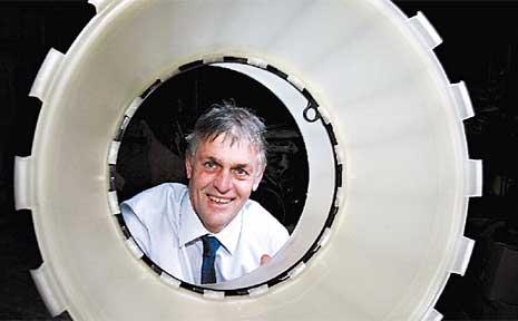 Maleny inventor Dean Cameron with his revolutionary Joinlox system.