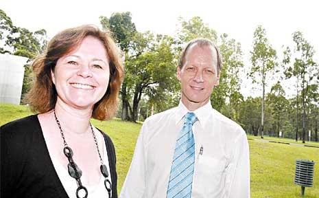 Julie Sloan with Environmental Industries Sunshine Coast chairman Bruce Napier Green.