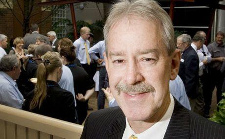 Retiring Heritage Bank CEO John Minz.