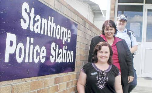 Stanthorpe the place to be: (Front to rear) Sunshine Wilson, Lisa Blake and Constable Sharon Hart have all moved from elsewhere to work at the Stanthorpe Police station.