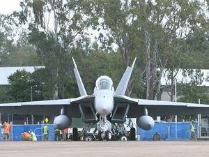 RAAF's Hornets in Anzac flypast at Ipswich