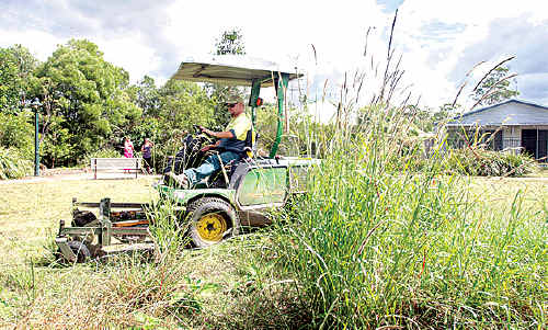Coffs Harbour City Council's mowing of reserves is being done as quickly as possible.