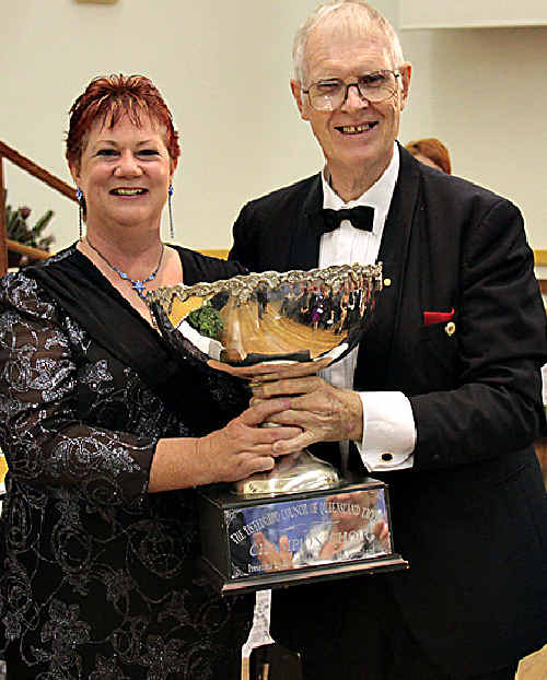 Sandra Milliken with George Hogg President of Eisteddfod Council Queensland.