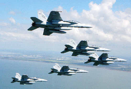 RAAF F/A-18F Super Hornets could soon be flying over the Evans Head bombing range on training exercises. Australian Defence Force