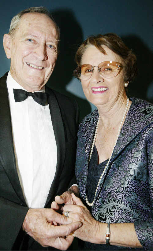 Sir McCamley's book can be purchased by donation to the Lady McCamley Memorial Foundation. Sir Graham McCamley with his late wife Shirley.