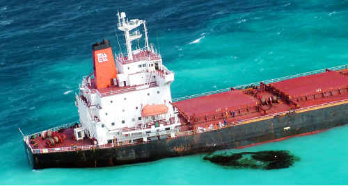Shen Neng 1 has leaked about two tonnes of oil onto the Great Barrier Reef.