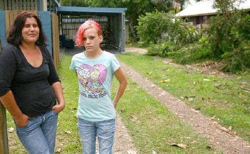Kate Nunn and daughter Casey Nunn are appealing for the return of their stolen car after 300 gatecrashers crashed Casey's party over the weekend.
