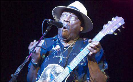 Popular Bluesfest performer Taj Mahal puts in an eye-popping performance at the festival.