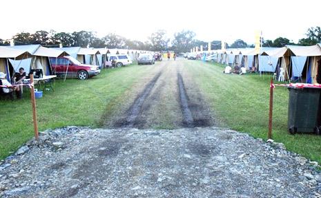 Tent city at Bluesfest.