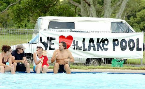 Lakeside: Lismore Lake Pool may be in for a reprieve of its death sentence at the next meeting of Lismore City Council.