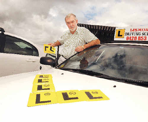 Lismore Driving School owner and instructor Steve Combe has taken part in keys2drive training, and soon will be able to offer free lessons to P-platers.
