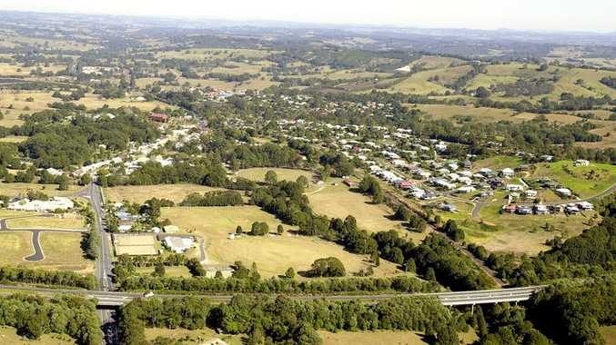 An aerial view of Bangalow.