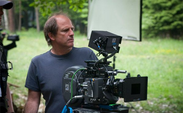 Michael Hoffman behind the camera during the shooting of The Last Station.