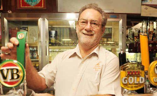 Pulling power: Grafton Golf Club bar manager Ray Hickey retired