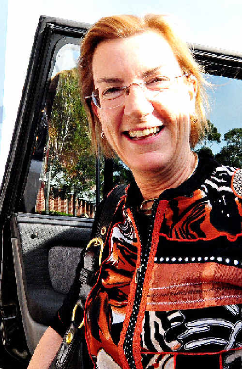 US Consul-General Judith Fergin arrives at Coffs Harbour Education Campus yesterday.