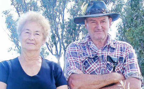 Disappointed: Eunice and Bill Payne want their street's grass mowed and kept tidy.
