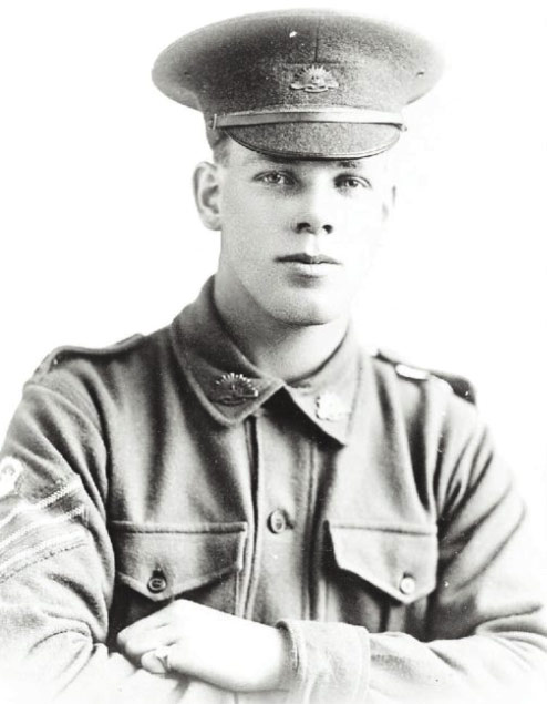 MISSING IN ACTION: A photo of Jack Parker in military uniform supplied by the Parker Family. It has been confirmed only recently that he lost his life in a battle at Fromelles, where Australian soldiers were used to distract German soldiers from the Somme.