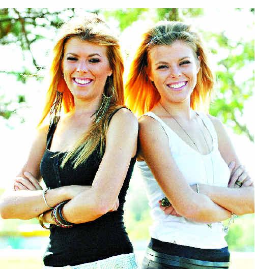 Twins Mel and Zoie Swindells.
