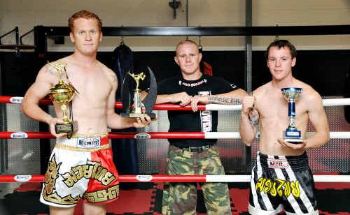 Gympie kickboxers Beau Badior and Elliott Reen have enjoyed their first taste of success in the sport after recent victories following months of training with mentor Billy Degoumois.