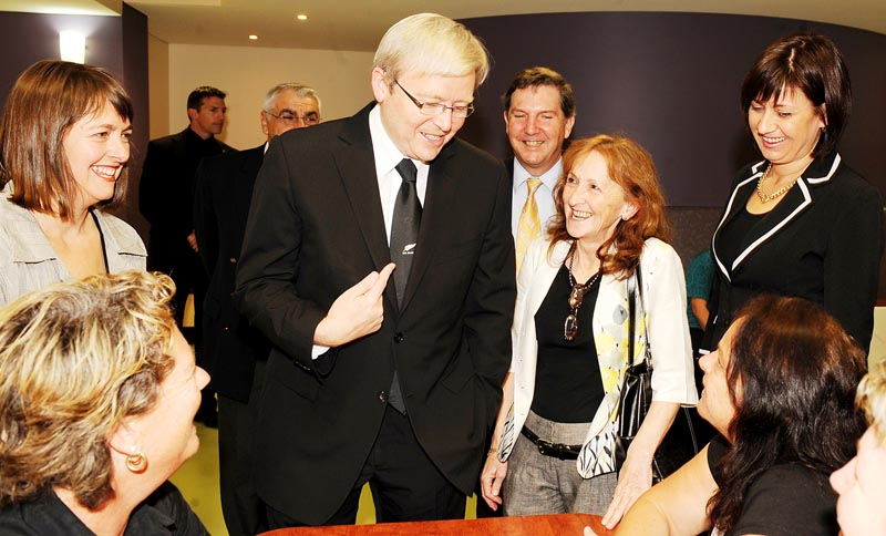 Former Prime Minister Kevin Rudd inspected the Grafton Base Hospital redevelopments today with Page MP Janelle Saffin. Photo: File