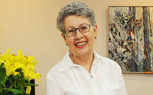 Lismore mayor Jenny Dowell was treated for breast cancer 12 months ago.